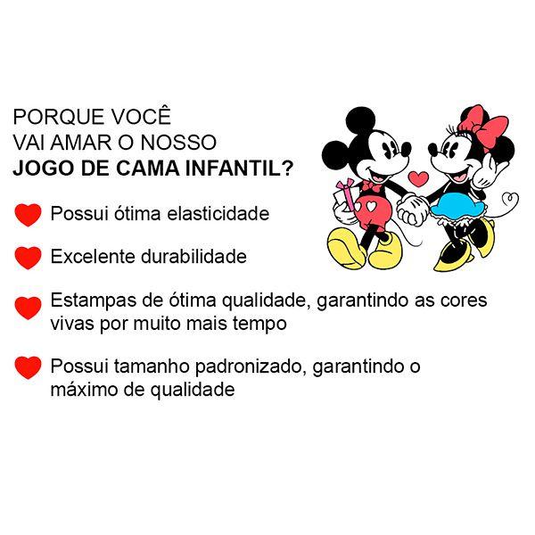 Jogo de Cama Solteiro Azul Toy Story Buzz Lightyear e Jessie - 2 Peças