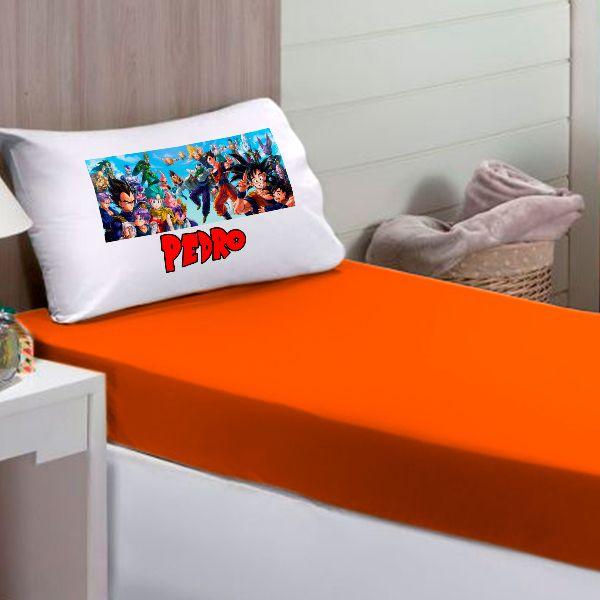 Jogo de Cama Solteiro Personalizado Dragon Ball Goku 2 Peças FR0222