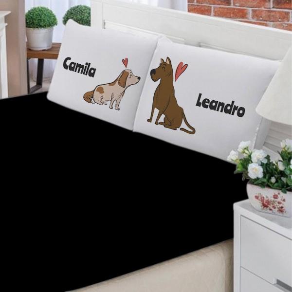 Jogo de Cama Personalizado Cachorrinhos - FR1131