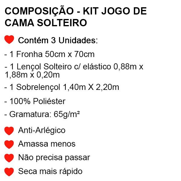 Jogo de Cama Solteiro Batman - 3 Peças - FR1077