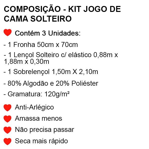 Jogo de Cama Solteiro Frozen - 3 Peças - FR1070