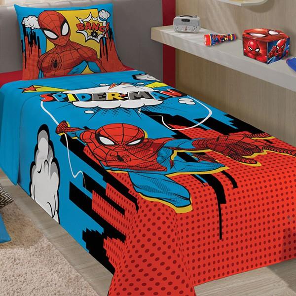 Jogo de Cama Solteiro Homem Aranha - 3 Peças - FR1071