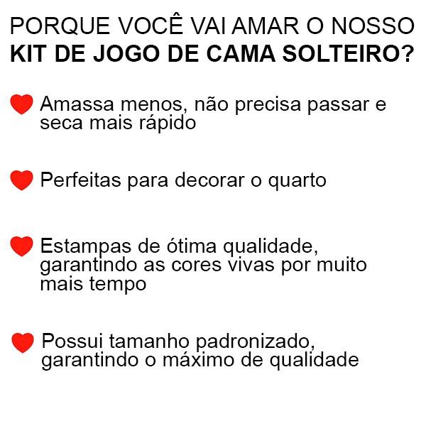 Jogo de Cama Solteiro Hot Wheels - 3 Peças - FR1078
