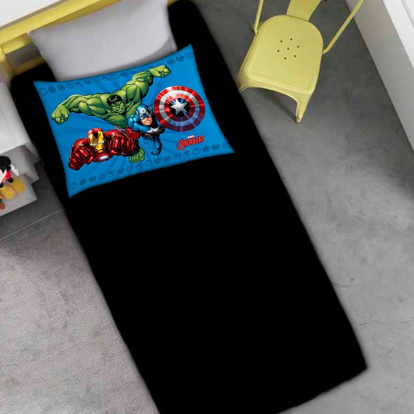 Jogo de Cama Solteiro Os Vingadores - 2 Peças FR1058