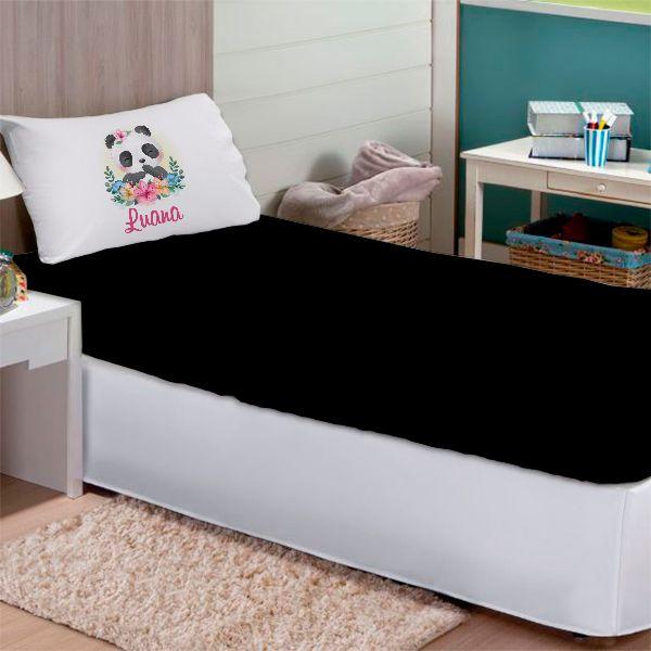 Jogo de Cama Solteiro Personalizado Panda 2 Peças FR1044