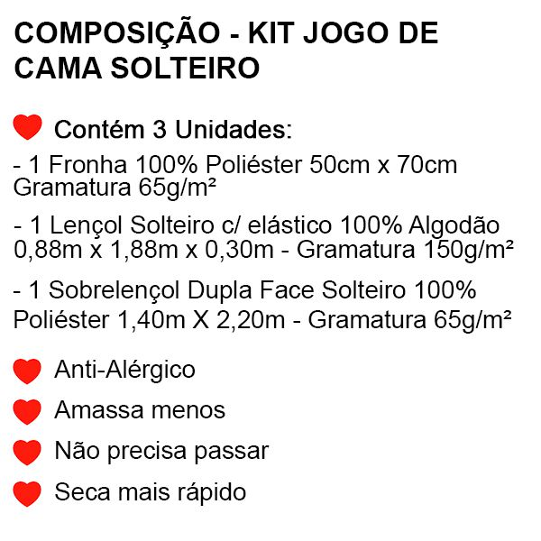 Jogo de Cama Solteiro Sonic - 3 Peças - FR1031