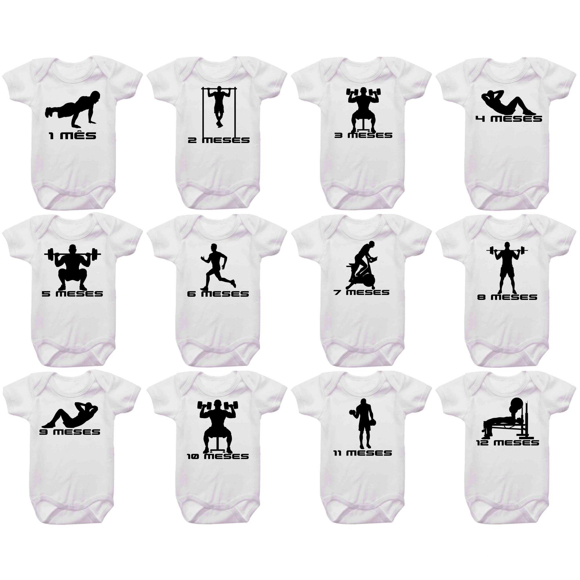 Kit Body Mesversario Academia Musculação Personalizado