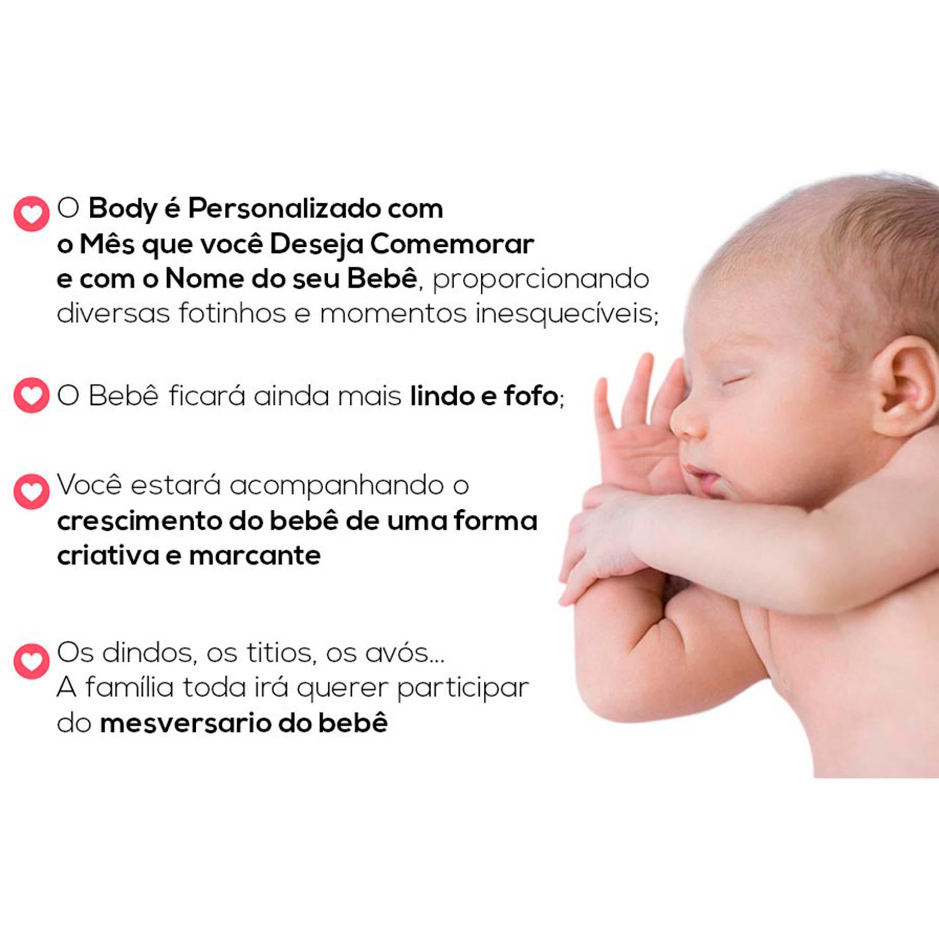 Kit Body Mesversario Princesas Disney Baby Personalizado