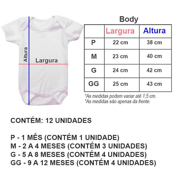 Kit Body Mesversario Ursinho Laço Rosa Personalizado