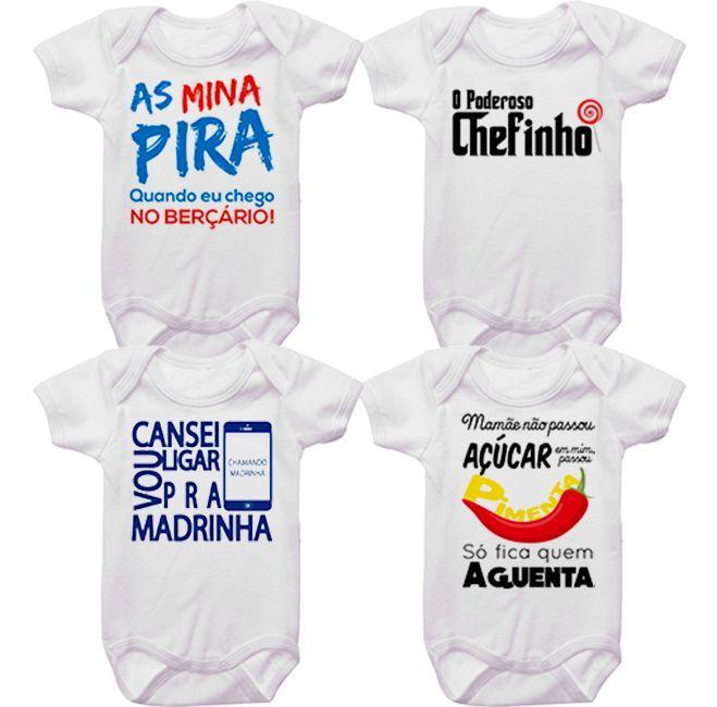 Kit Bodys Bebê Divertidos