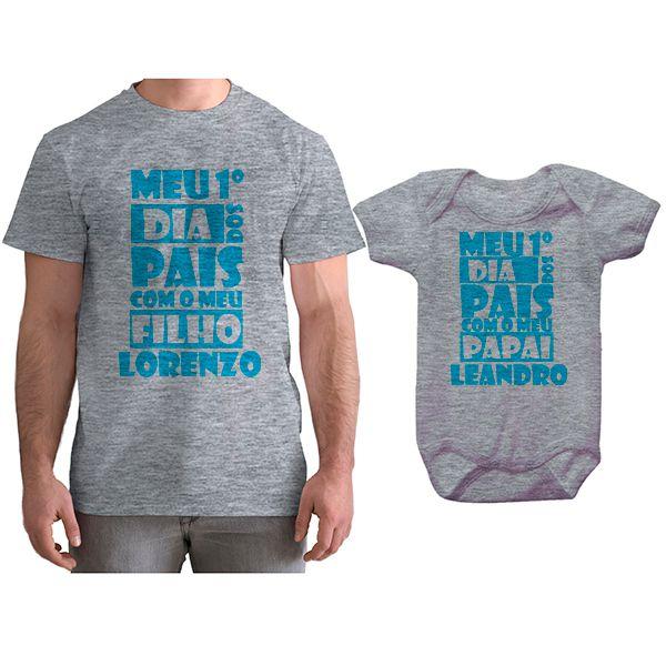 Kit Camiseta e Body Meu Primeiro Dia dos Pais CA0688