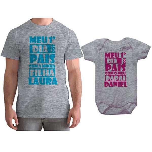 Kit Camiseta e Body Meu Primeiro Dia dos Pais CA0692