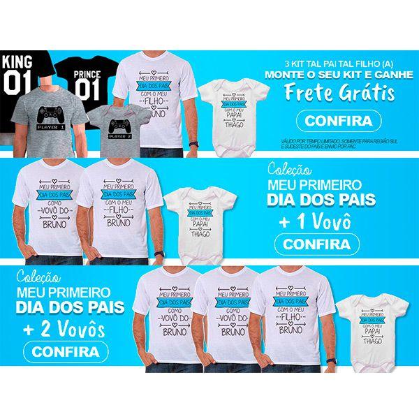 Kit Camiseta e Body Meu Primeiro Dia dos Pais CA0694