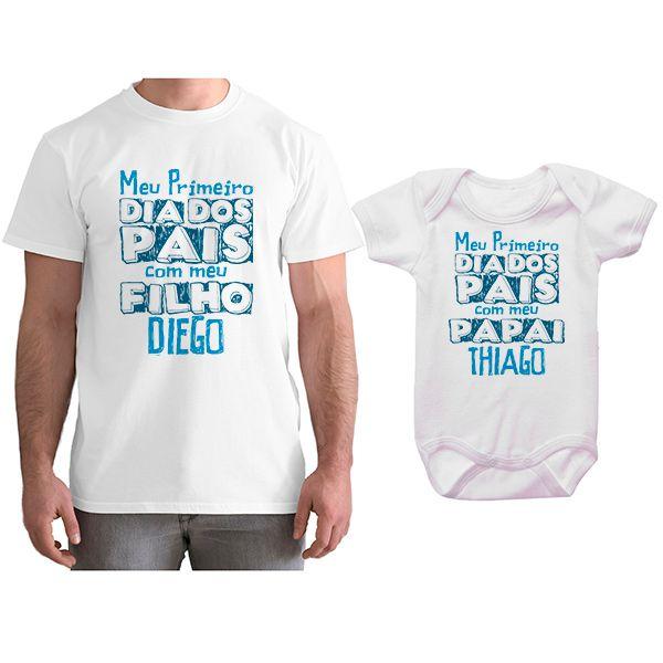 Kit Camiseta e Body Meu Primeiro Dia dos Pais CA0695