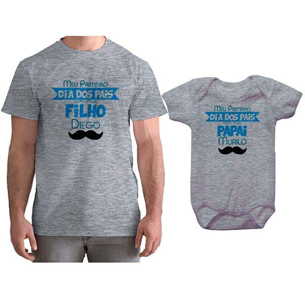Kit Camiseta e Body Meu Primeiro Dia dos Pais CA0696
