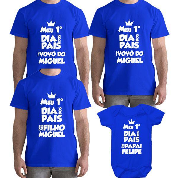 4f9f4a7be8 Kit Camiseta e Body Meu Primeiro Dia dos Pais CA0711 - Empório Camiseteria  ...