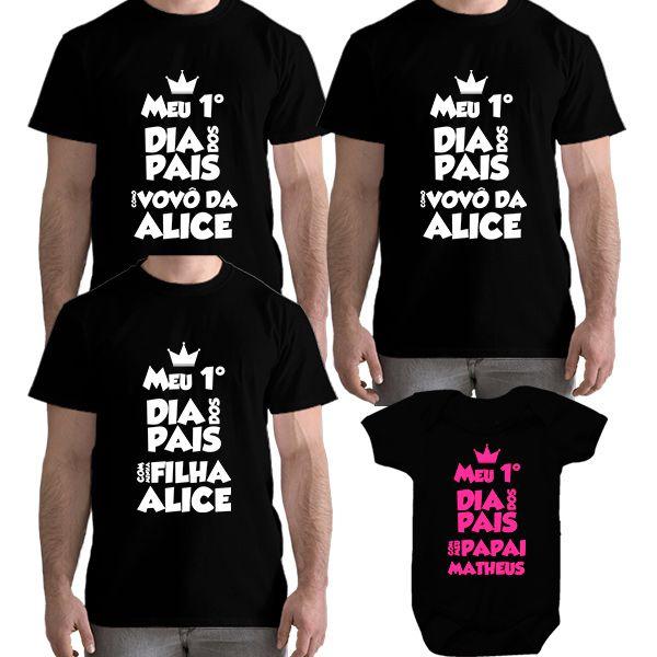 Kit Camiseta e Body Meu Primeiro Dia dos Pais CA0712