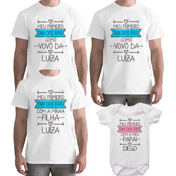 Kit Camiseta e Body Meu Primeiro Dia dos Pais CA0716