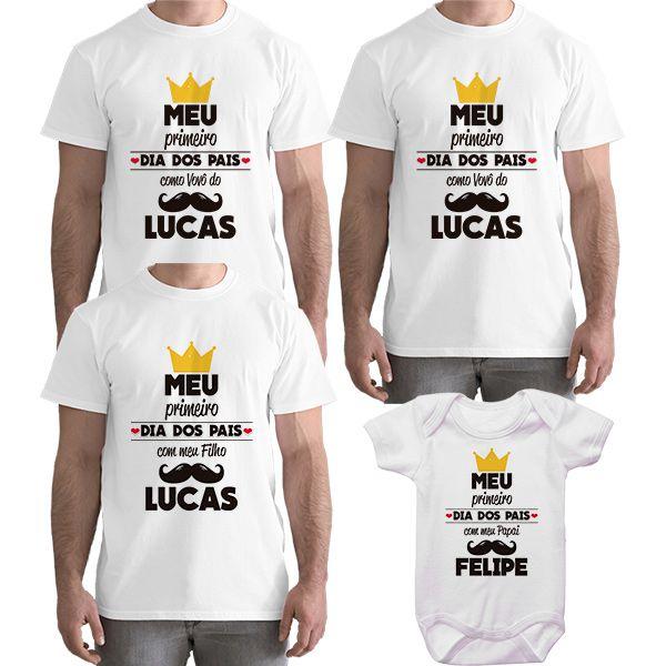 Kit Camiseta e Body Meu Primeiro Dia dos Pais CA0828