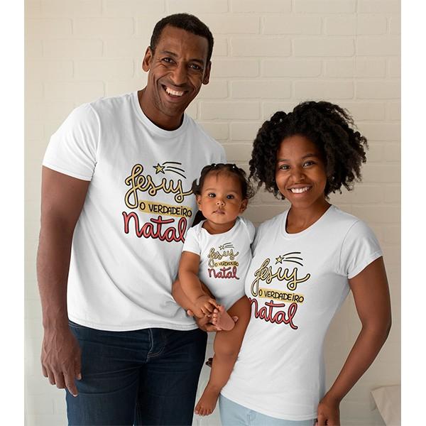 Kit Camiseta e Body Nosso Primeiro Natal - CA1077