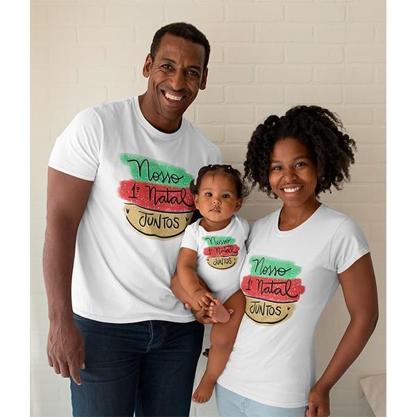Kit Camiseta e Body Nosso Primeiro Natal - CA1079