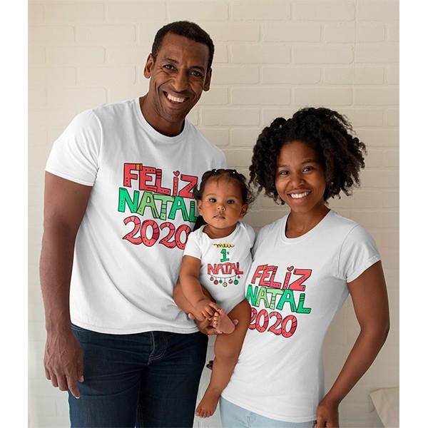 Kit Camiseta e Body Nosso Primeiro Natal - CA1082