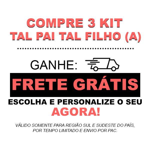 Kit Camiseta e Body Tal Pai Tal Filho King e Prince CA0746