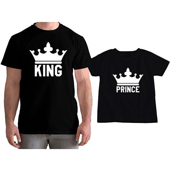 Kit Camiseta e Body Tal Pai Tal Filho King e Prince CA0757