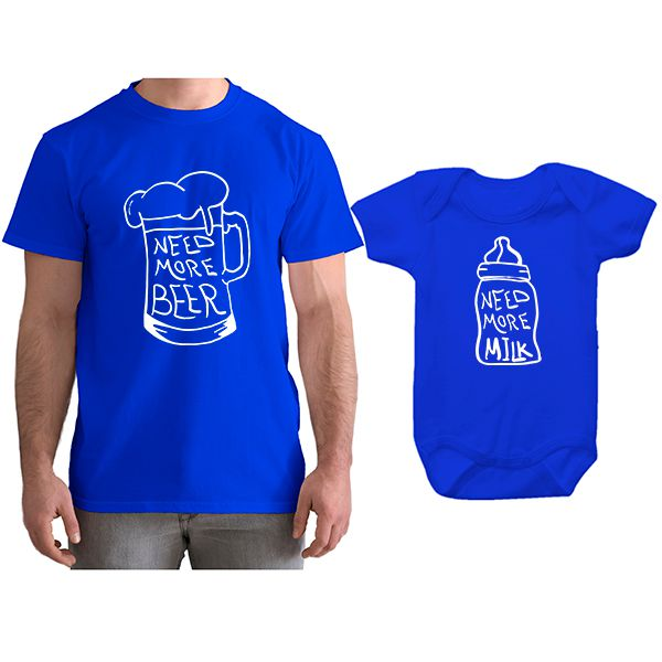 cd9938393270 Kit Camiseta e Body Tal Pai Tal Filho Need More Beer CA0790 Empório ...
