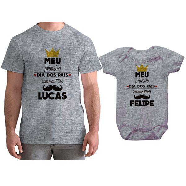 Kit Camiseta e Body Tal Pai Tal Filho Primeiro Dia dos Pais CA0794