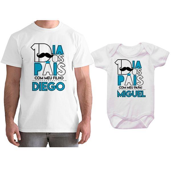 Kit Camiseta e Body Tal Pai Tal Filho Primeiro Dia dos Pais CA0795