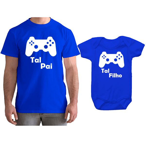 Kit Camiseta e Body Tal Pai Tal Filho VÍdeo Game PS4 CA0750