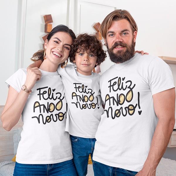 Kit Camiseta Família Ano Novo - 3 Peças - CA1117