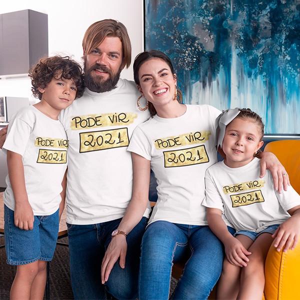 Kit Camiseta Família Ano Novo - 4 Peças - CA1101