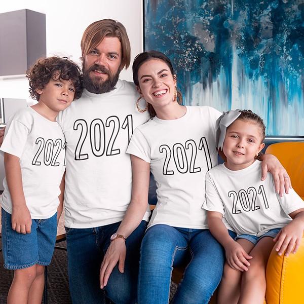 Kit Camiseta Família Ano Novo - 4 Peças - CA1106