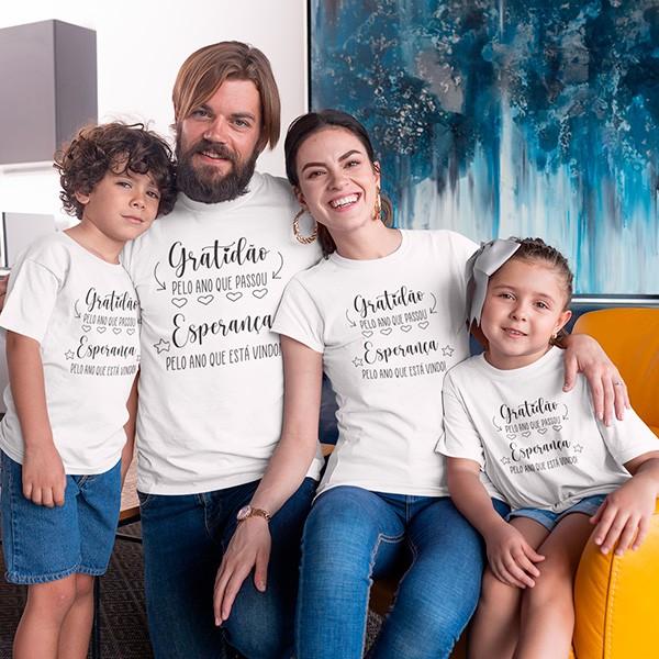 Kit Camiseta Família Ano Novo - 4 Peças - CA1108