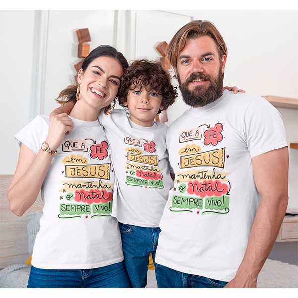 Kit Camiseta Família Natal - 3 peças - CA1000