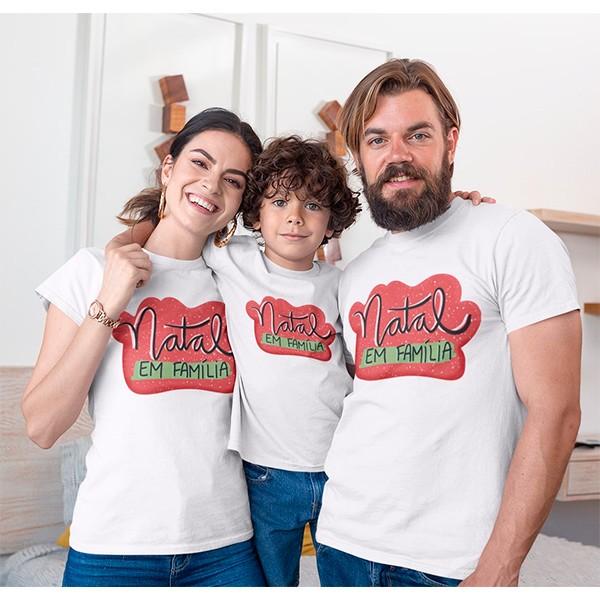 Kit Camiseta Família Natal - 3 peças - CA1002