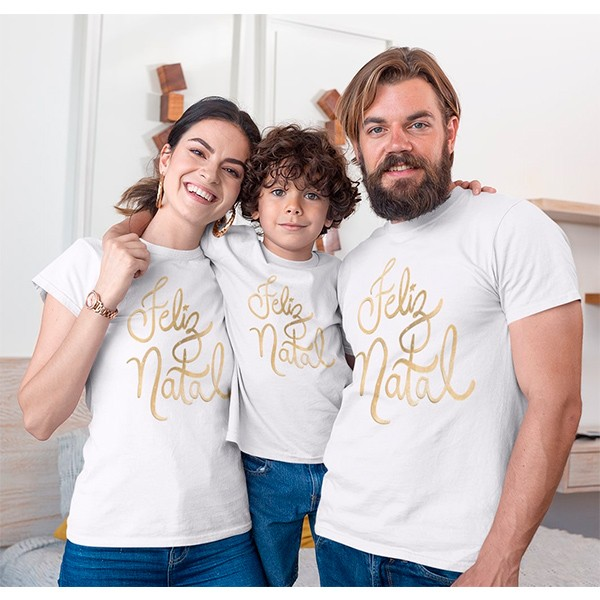 Kit Camiseta Família Natal - 3 peças - CA1004