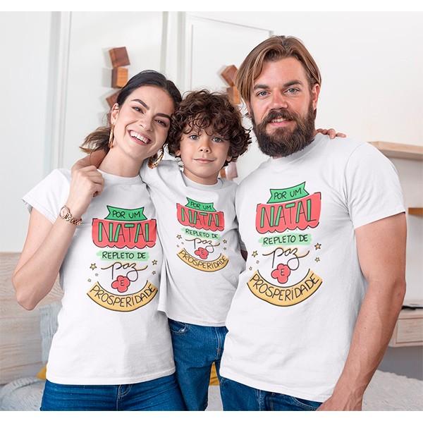 Kit Camiseta Família Natal - 3 peças - CA1008