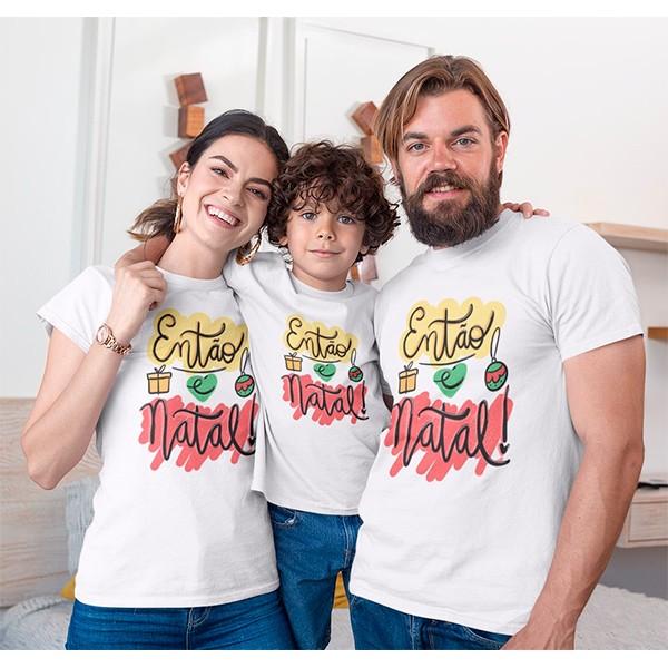 Kit Camiseta Família Natal - 3 peças - CA1009