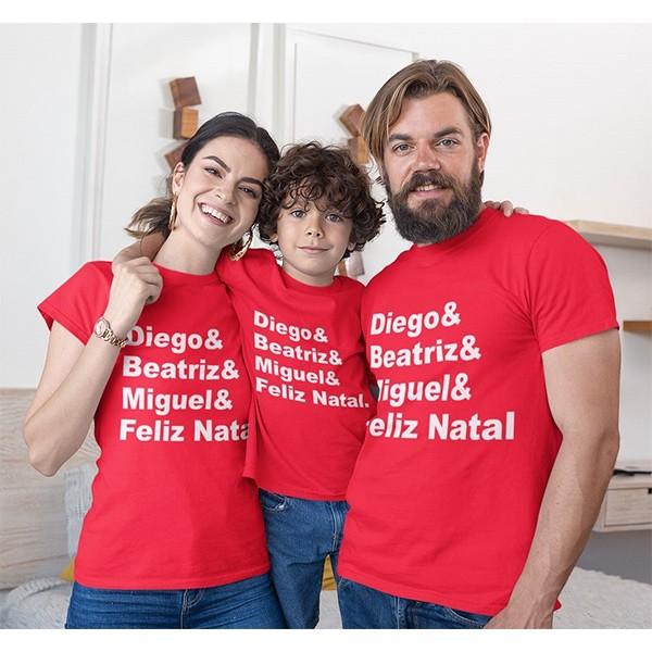 Kit Camiseta Família Natal - 3 peças - CA1030