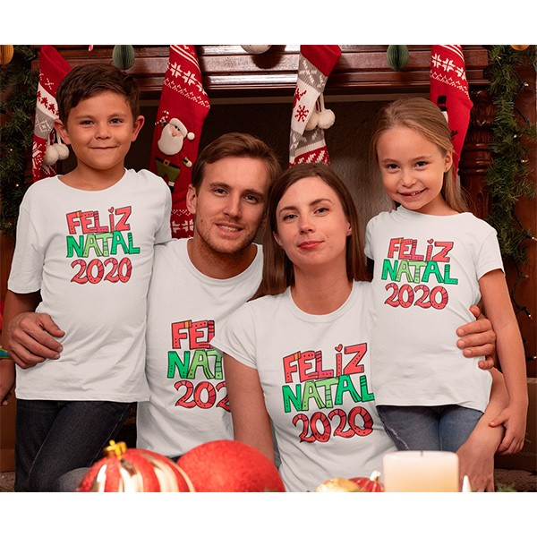 Kit Camiseta Família Natal - 4 peças - CA1014