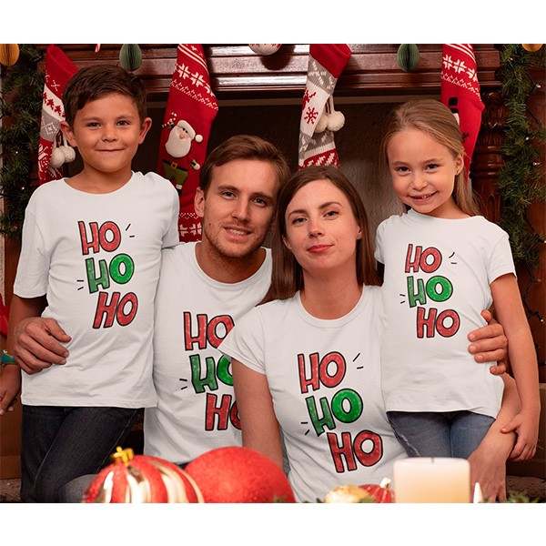 Kit Camiseta Família Natal - 4 peças - CA1020