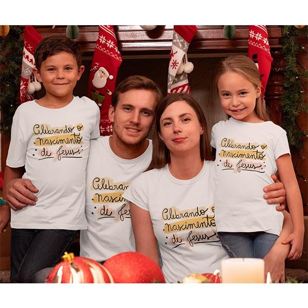 Kit Camiseta Família Natal - 4 peças - CA1021