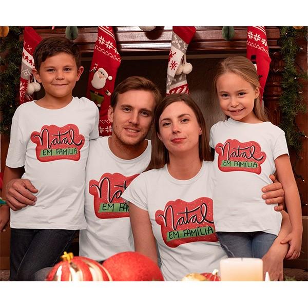 Kit Camiseta Família Natal - 4 peças - CA1024