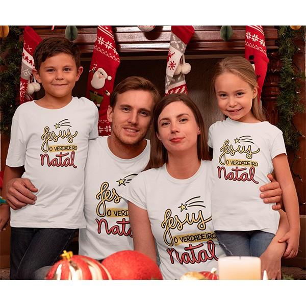 Kit Camiseta Família Natal - 4 peças - CA1025