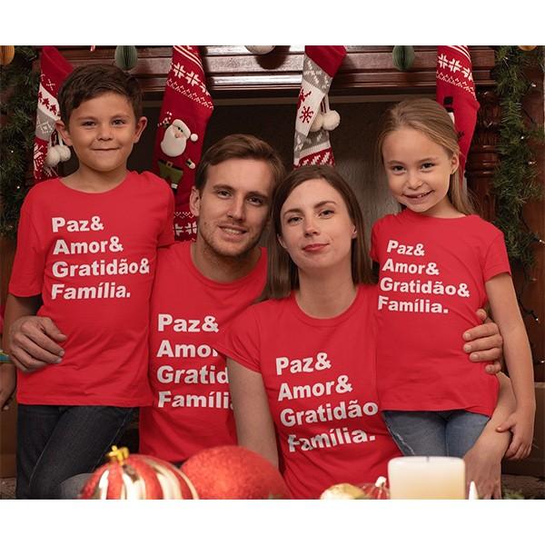 Kit Camiseta Família Natal - 4 peças - CA1034