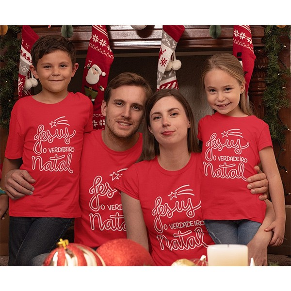 Kit Camiseta Família Natal - 4 peças - CA1035