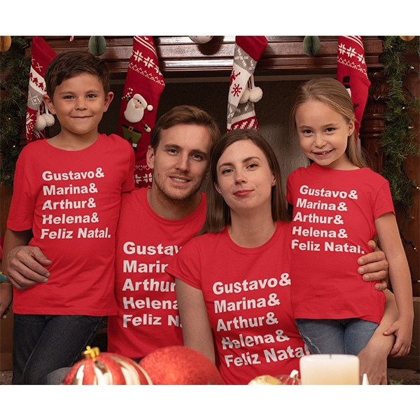 Kit Camiseta Família Natal - 4 peças - CA1036